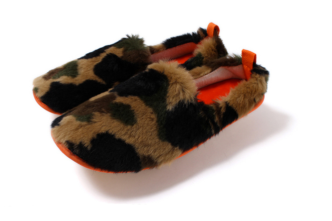Image of A Bathing Ape 2013 Fall/Winter 1ST CAMO FUR ROOM SHOES