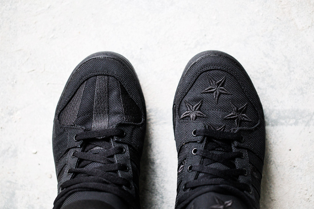 Image of A Closer Look at the A$AP Rocky x adidas Originals by Jeremy Scott JS WINGS 2.0 BLACK FLAG