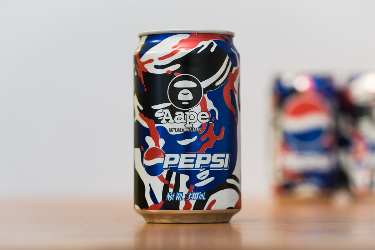 "Image of  AAPE by A Bathing Ape x Pepsi 2013 ""MOONFACE CAMO"" Cans"