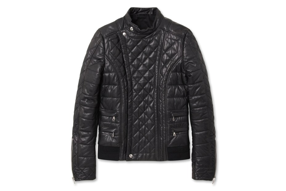 Image of Balmain Quilted Leather Riders Jacket
