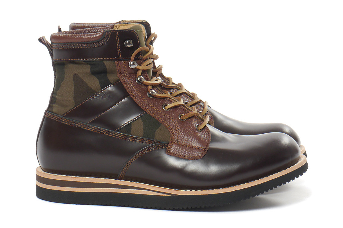 Image of BePositive Brown Leather Army Boot