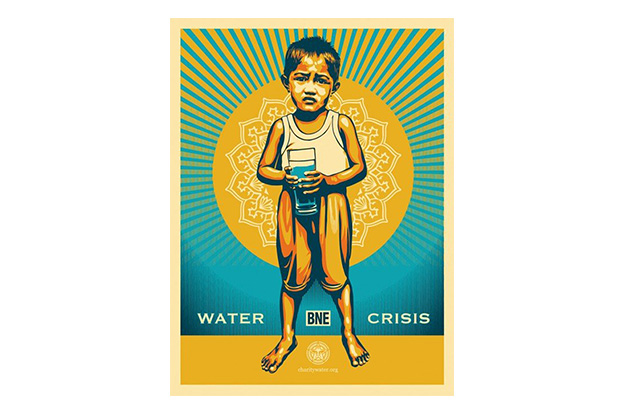 Image of BNE x Shepard Fairey Print for charity: water