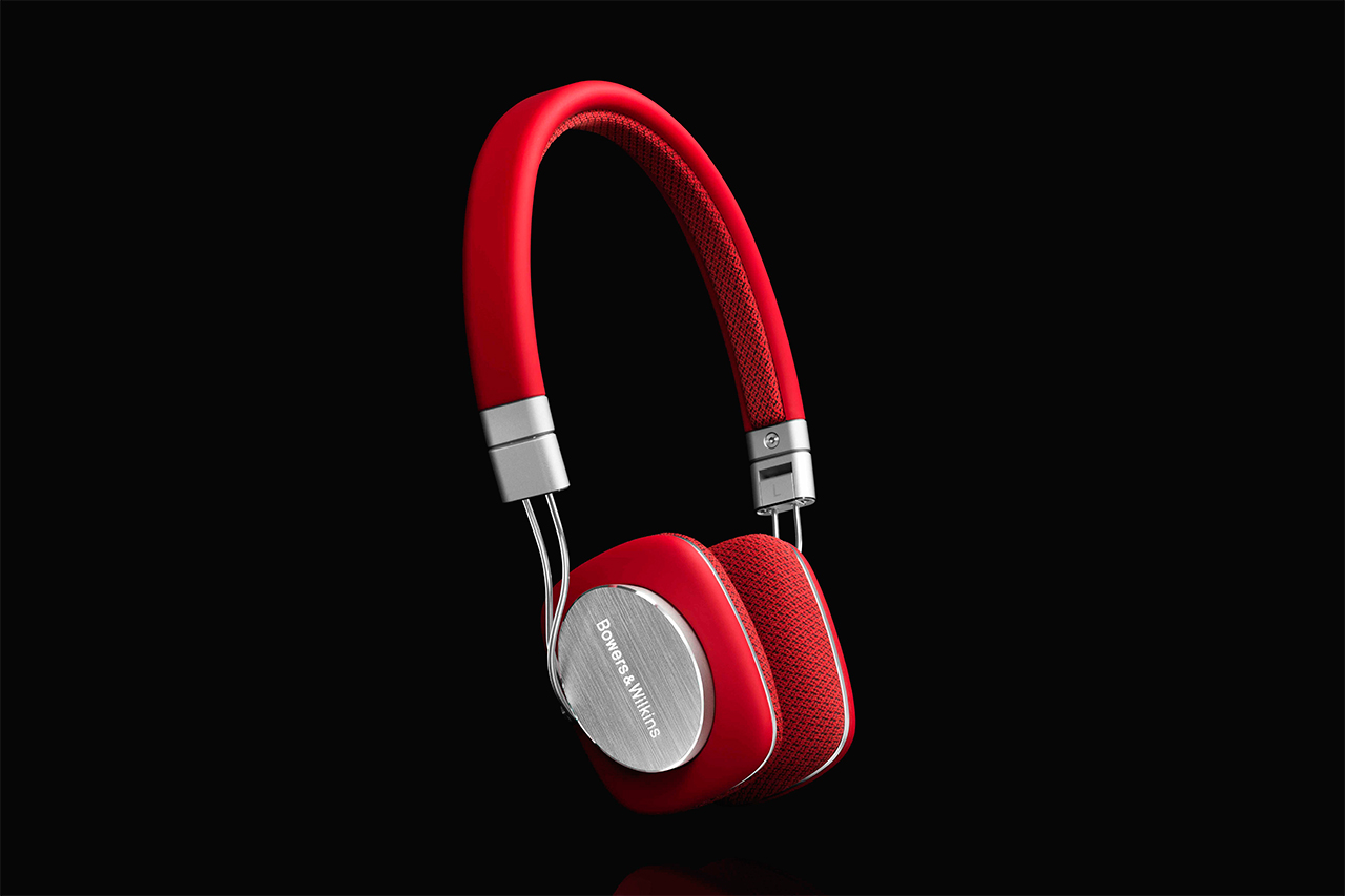 Image of Bowers & Wilkins P3 Headphones in Red