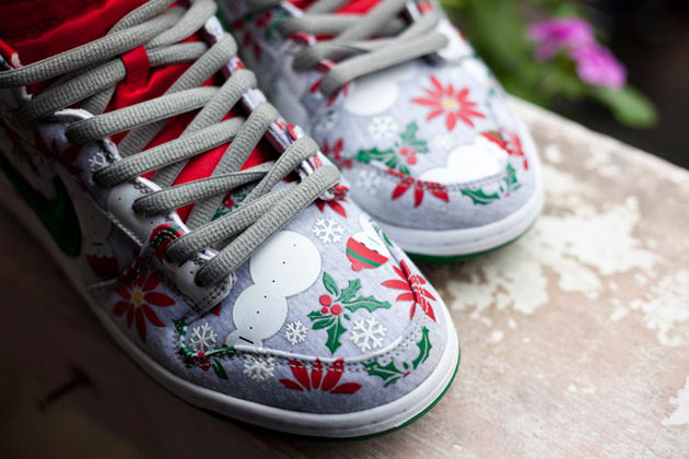 "Image of Concepts x Nike SB Dunk High Premium ""Ugly Christmas Sweater"" Preview"
