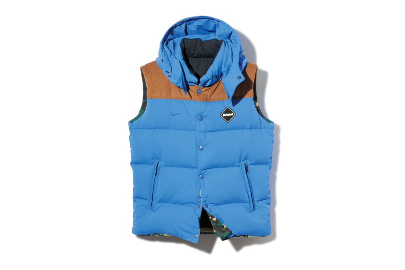 Image of F.C.R.B. 2013 Fall/Winter FABRIC MIX REVERSIBLE DOWN VEST