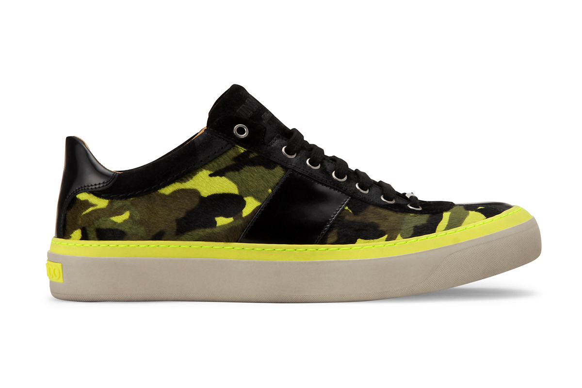 Image of Jimmy Choo Camouflage Print Sneaker