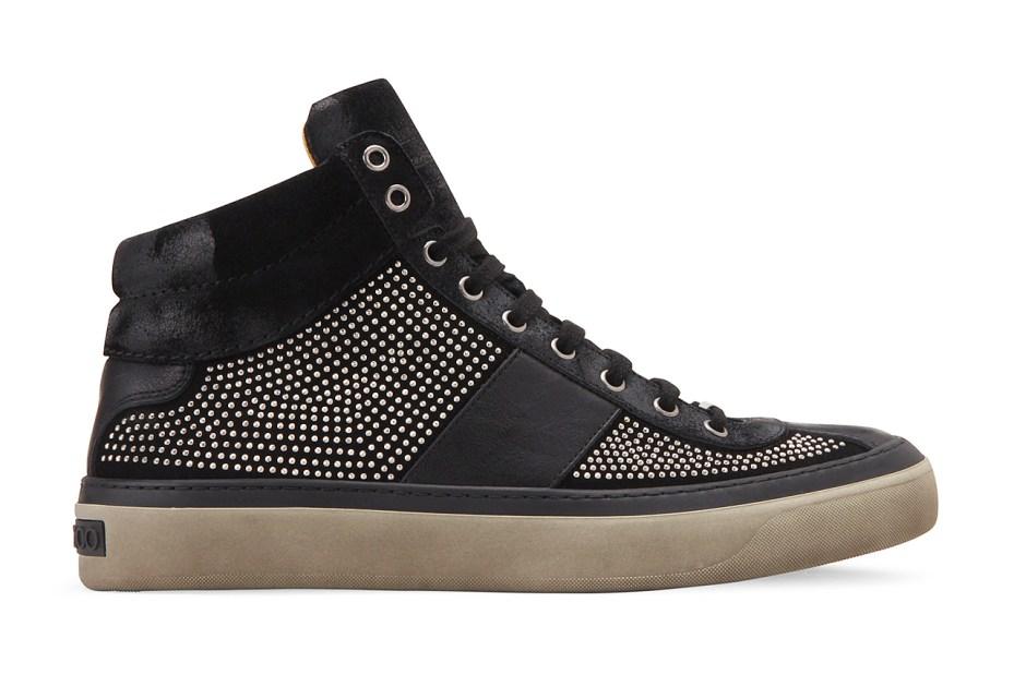 Image of Jimmy Choo Suede Studs Sneaker