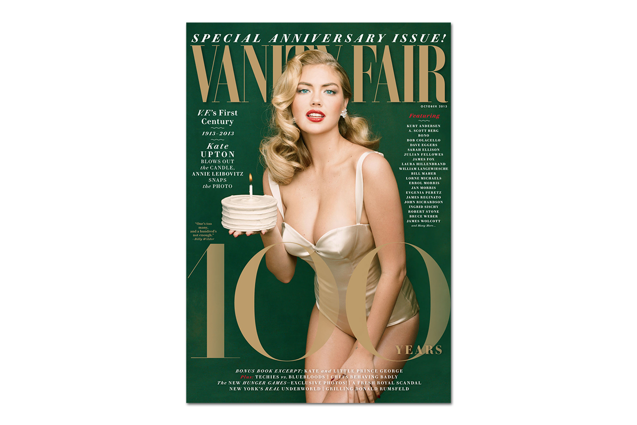 Image of Kate Upton Covers Vanity Fair's 100th Anniversary Issue as Marilyn Monroe