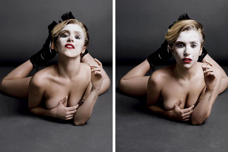 Image of Lady Gaga's Entire Topless Editorial for V Magazine Issue 85