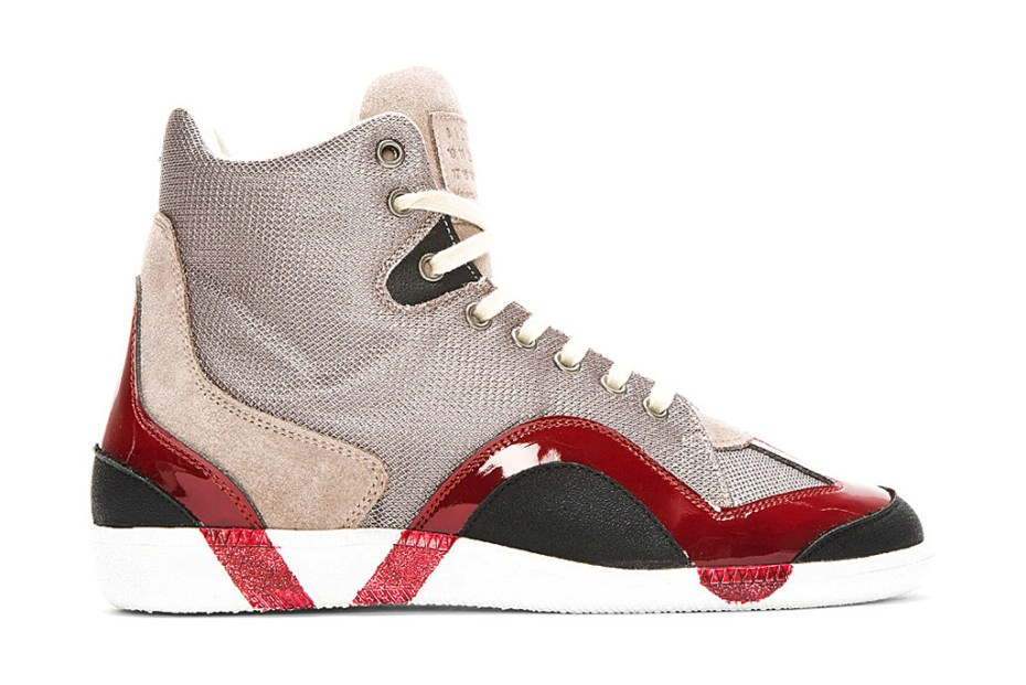 Image of Maison Martin Margiela Grey Textured Painted Sneakers