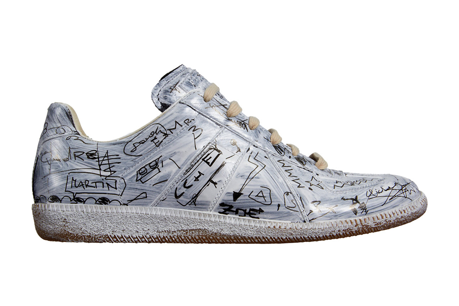 Image of Maison Martin Margiela Penned Graffiti Replica Low Top