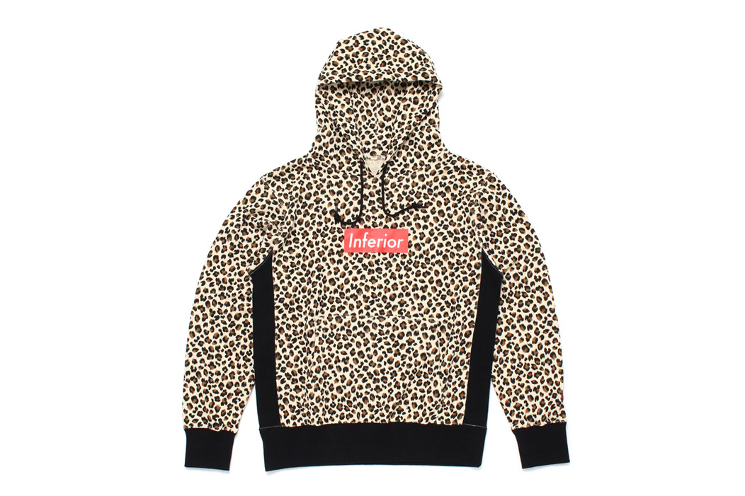 "Image of Mark McNairy for Heather Grey Wall 2013 Fall/Winter ""Inferior"" Leopard Hoodie"