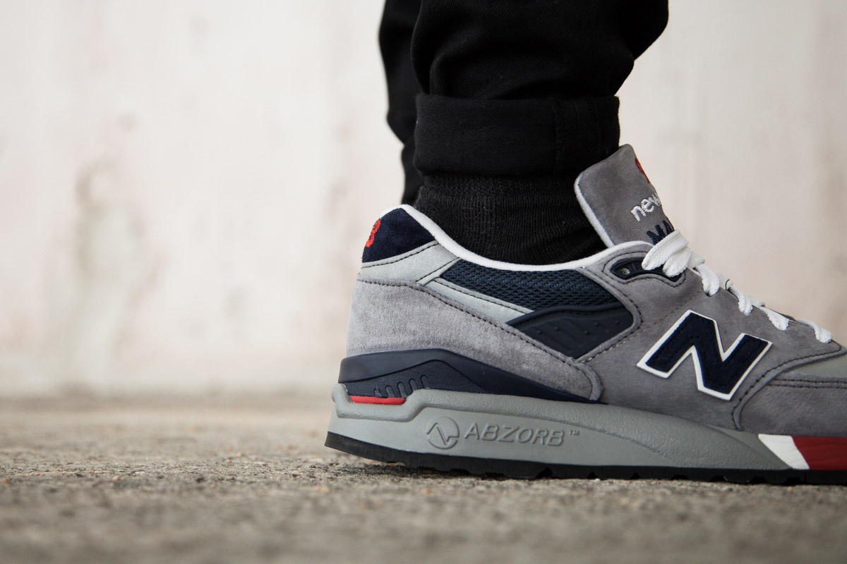Image of New Balance M998 Grey/Navy/Red