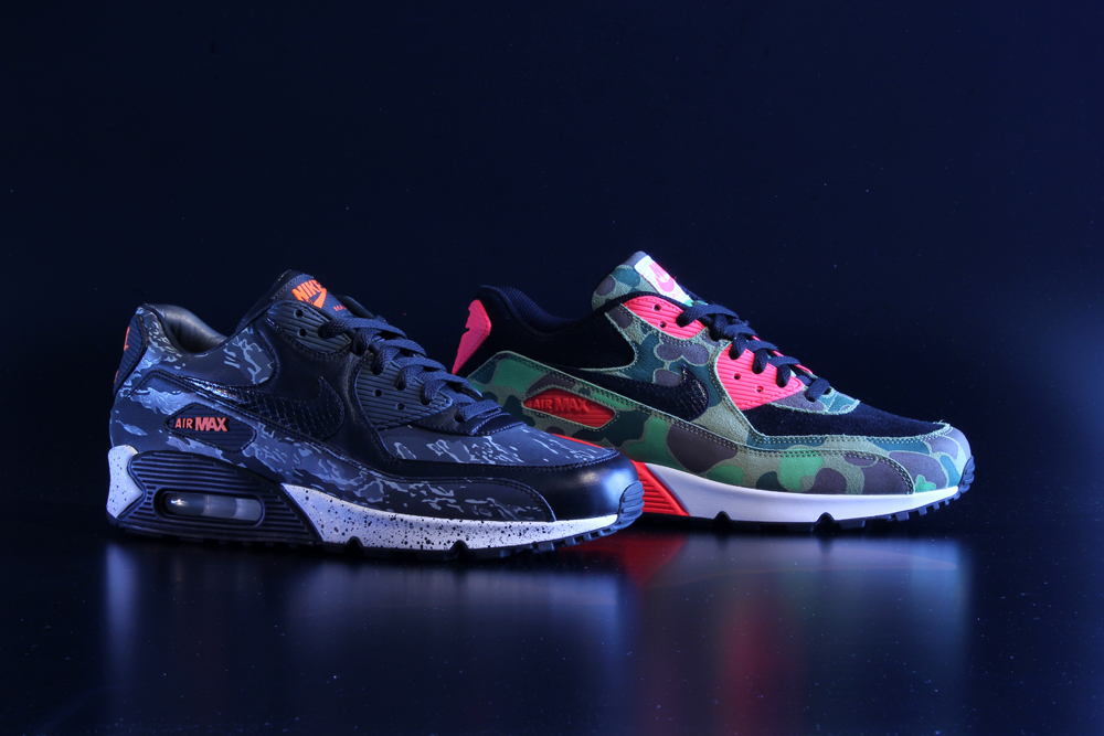 Image of Nike Air Max 90 Premium Camo Pack atmos Exclusive Preview