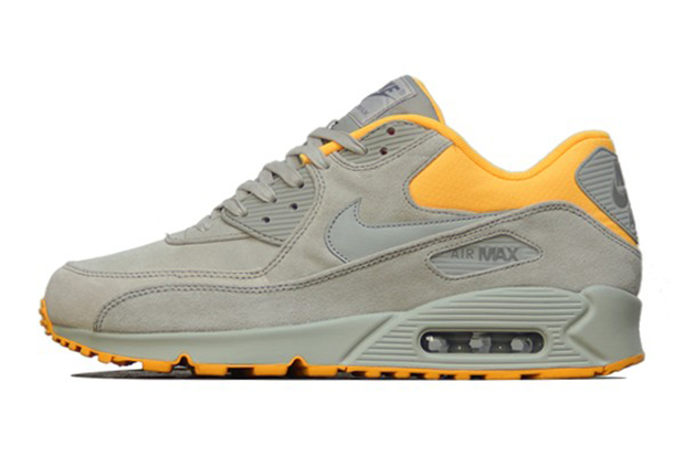 Image of Nike Air Max 90 PRM Pale Grey/Laser Orange