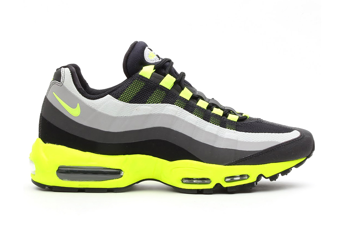 Image of Nike Air Max 95 No Sew Black/Volt-Dark Charcoal-Midnight Fog