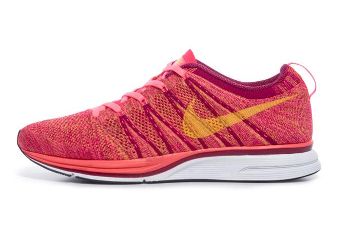 Image of Nike Flyknit Trainer+ Pink Flash/Laser Orange-Raspberry Red