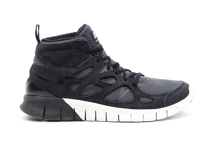 Image of Nike Free Run+ 2 Mid Black/Summit White