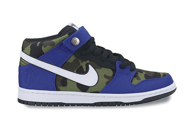"Image of Made for Skate x Nike SB Dunk Mid ""Royal Camo"""