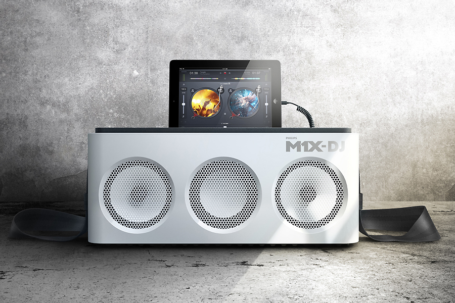 Image of Philips M1X-DJ iPad Dock and Mixing Deck