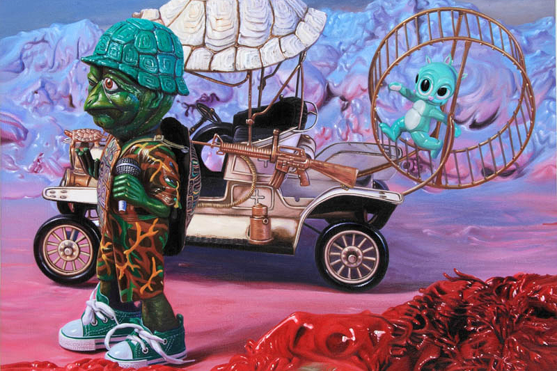 "Image of Ron English ""Popagandistan"" Exhibition @ Corey Helford Gallery"