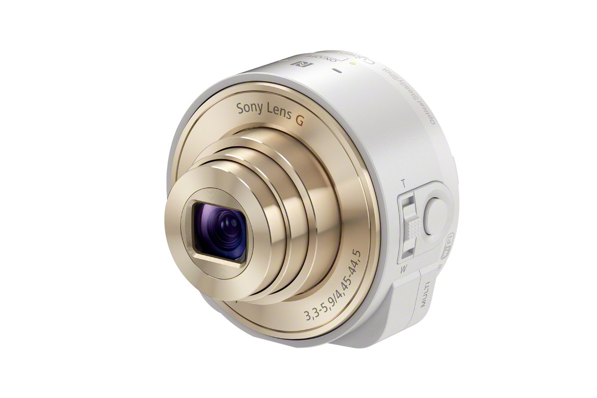 "Image of Sony Cyber-Shot DSC-QX100 and DSC-QX10 ""Lens-Style"" Cameras"