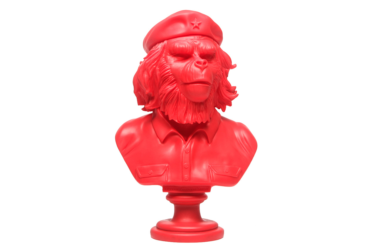 "Image of  SSUR x 3DRetro 12"" Rebel Ape Bust Sculpture"