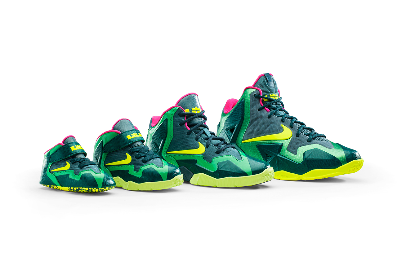Image of The LeBron 11 Aims to Outfit Kids with T-Rex-Inspired Range