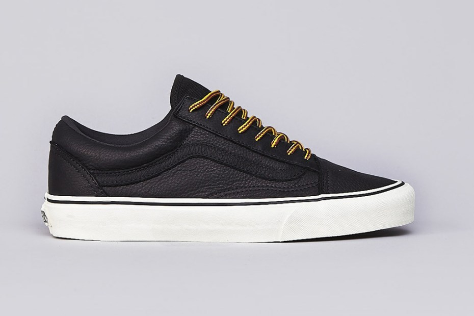 Image of Vans California Old Skool Reissue Black Leather