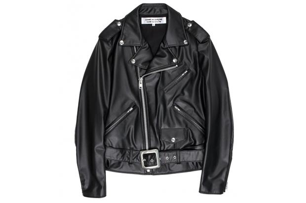 Image of COMME des GARÇONS Biker Synthetic Leather Jacket