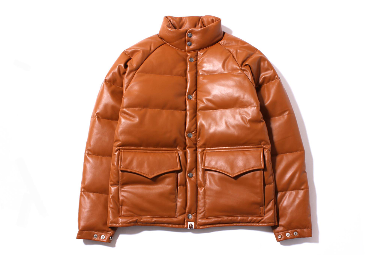Image of A Bathing Ape 2013 Fall/Winter LEATHER CLASSIC DOWN JACKET