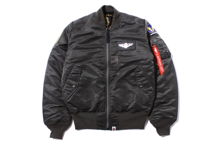 Image of A Bathing Ape x Alpha Industries MA-1 Tight-Fit Bomber Jacket