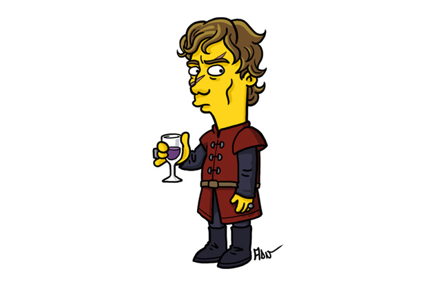 Image of Breaking Bad and Game of Thrones Characters Redrawn as Simpsons by Adrien Noterdaem