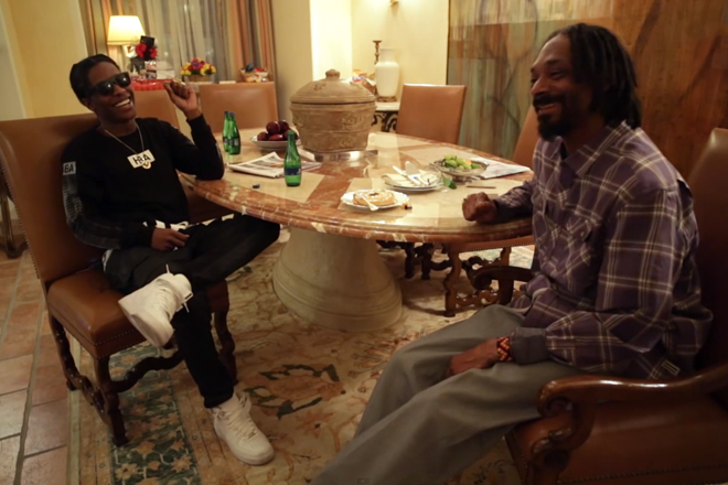 Image of A$AP Rocky Interviews Snoop Lion