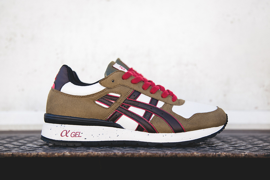 Image of ASICS GT-II Olive/Brown/Red