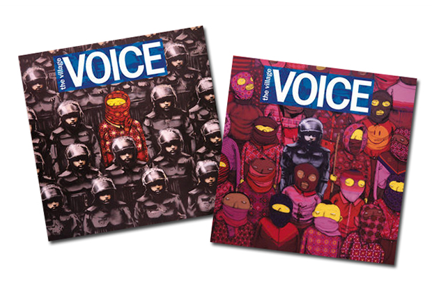 Image of Banksy and Os Gemeos Take Over Cover of Village Voice