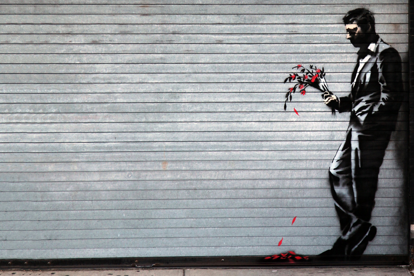 "Image of Banksy Hits Hell's Kitchen's Hustler Club for ""Better Out Than In"""