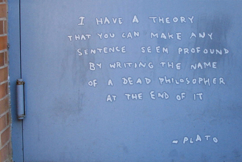 """Image of Banksy Philosophizes on Day 8 of """"Better Out Than In"""""""