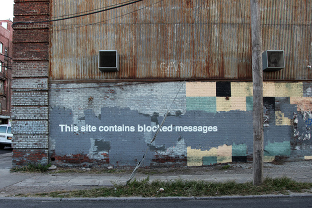 """Image of Banksy's """"Better Out Than In"""" Hits Greenpoint"""