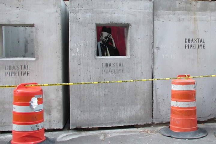 "Image of Banksy's 'Concrete Confessional' for ""Better Out Than In"""