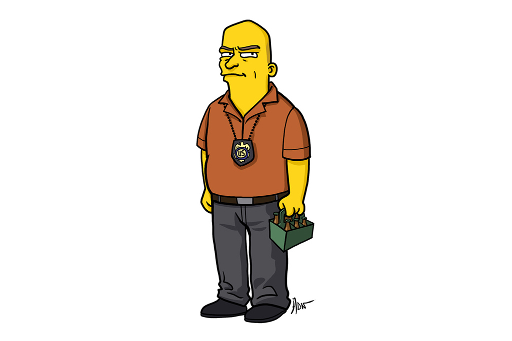 Image of Adrien Noterdaem Gives Breaking Bad Characters The Simpsons Treatment
