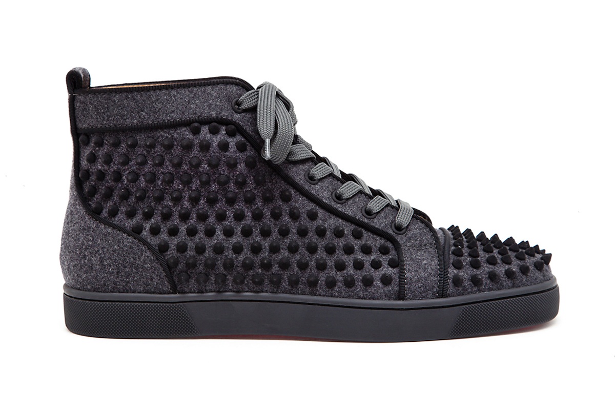 Image of Christian Louboutin Louis Spikes Felt