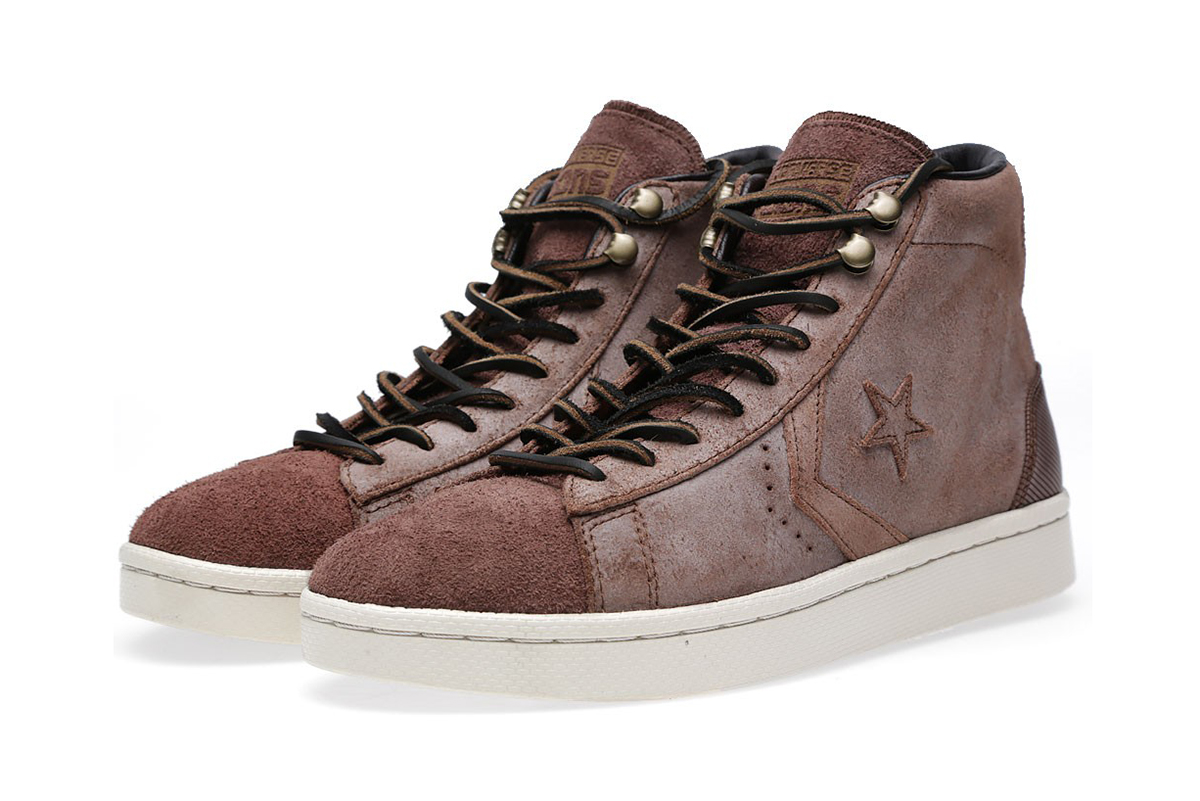 "Image of Converse First String Pro Leather Mid Zip ""Pine Cone"""