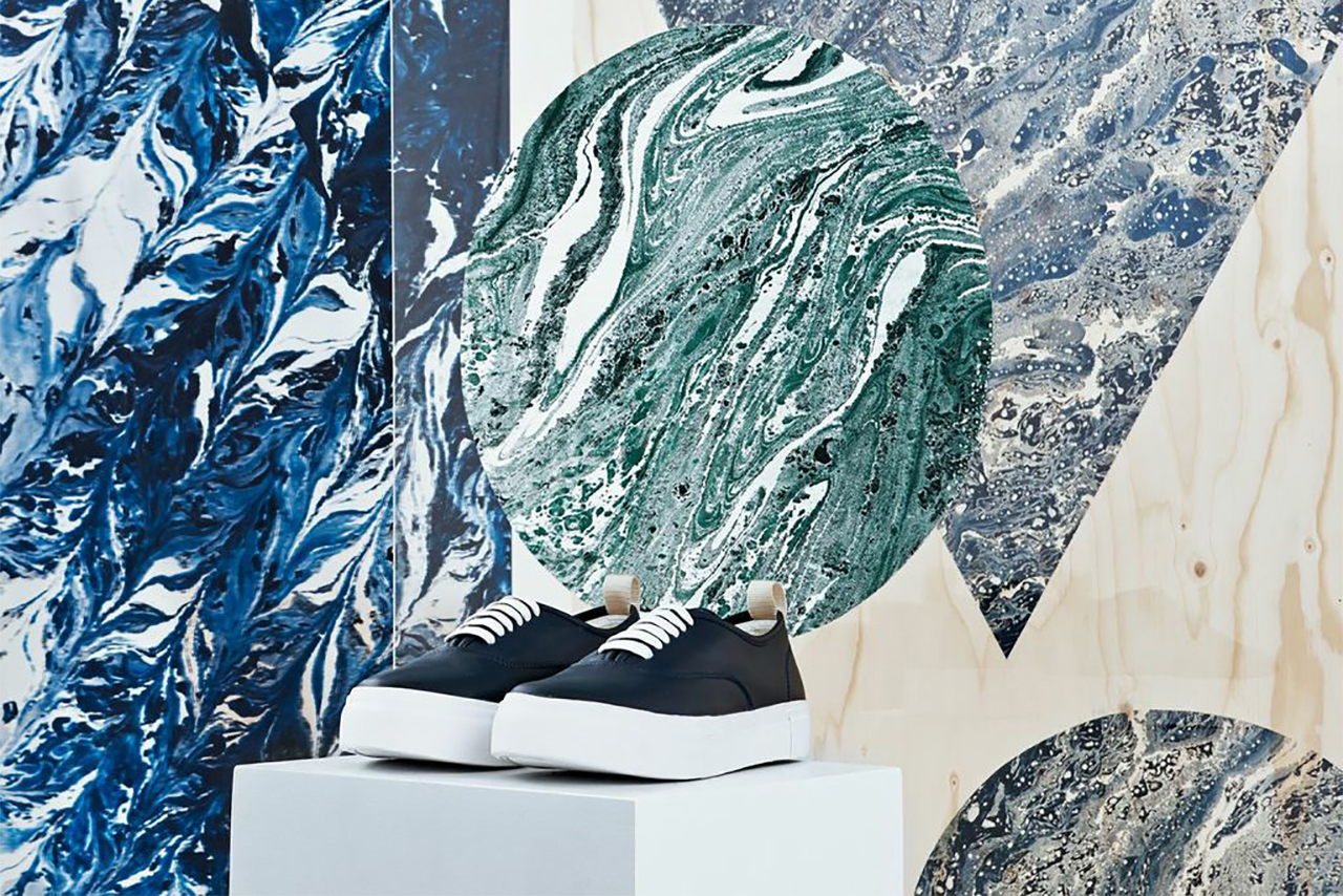 "Image of Eytys ""Marbling and Modernism"" Installation @ Dover Street Market London"