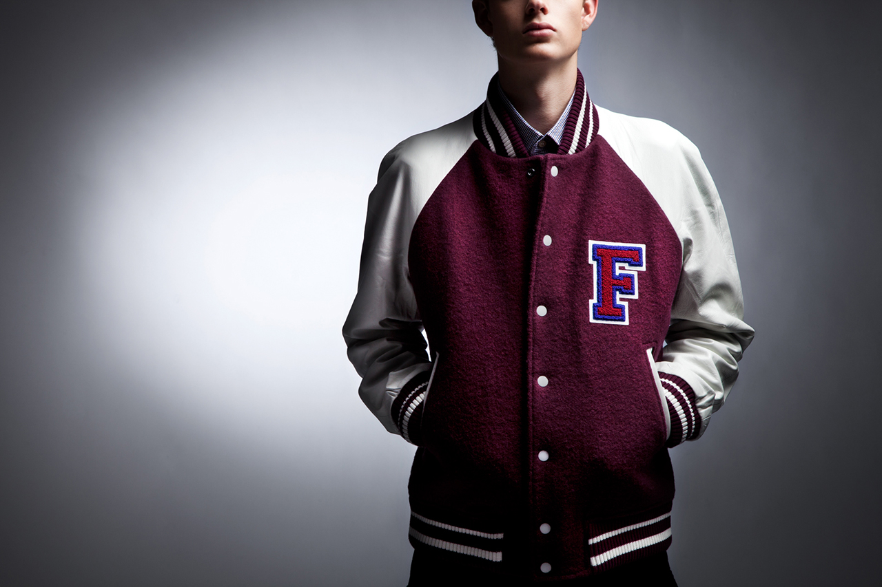 Image of Fred Perry x Raf Simons 2013 Fall/Winter Varsity Jacket