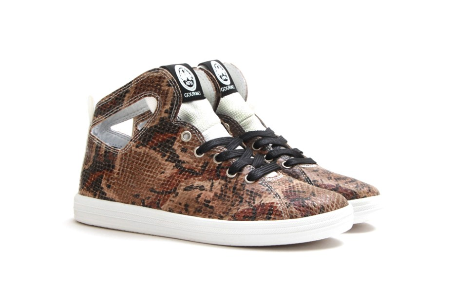 Image of Gourmet Women's Uno Snake Print Brown/White