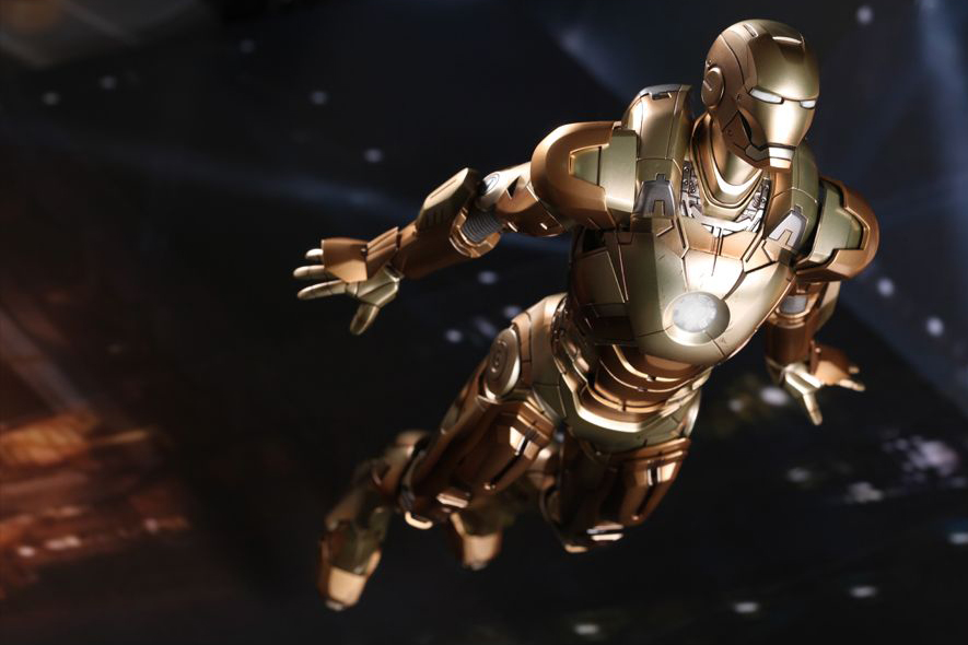 "Image of Hot Toys Iron Man 3 Mark XXI ""MIDAS"" Limited Edition Collectible Figure"