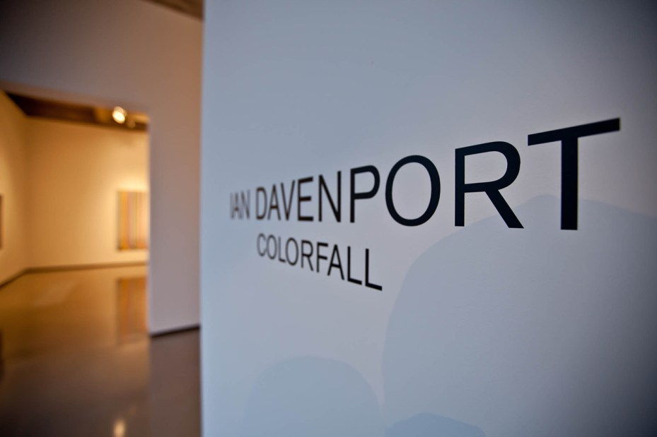 "Image of Ian Davenport ""Colorfall"" Exhibition @ Paul Kasmin"