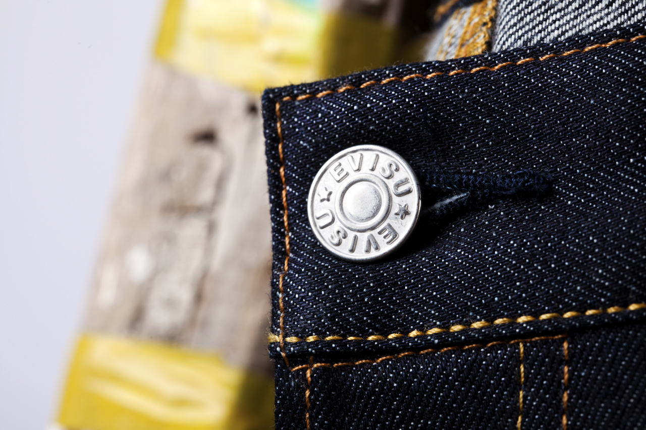 Image of INSA x EVISU Daicock Raw Denim Jeans