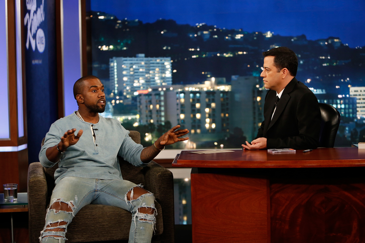 Image of Jimmy Kimmel Live: Kanye West Interview | Video